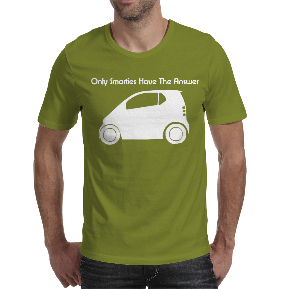 Only Smarties have the Answer' - Funny Mens T-Shirt