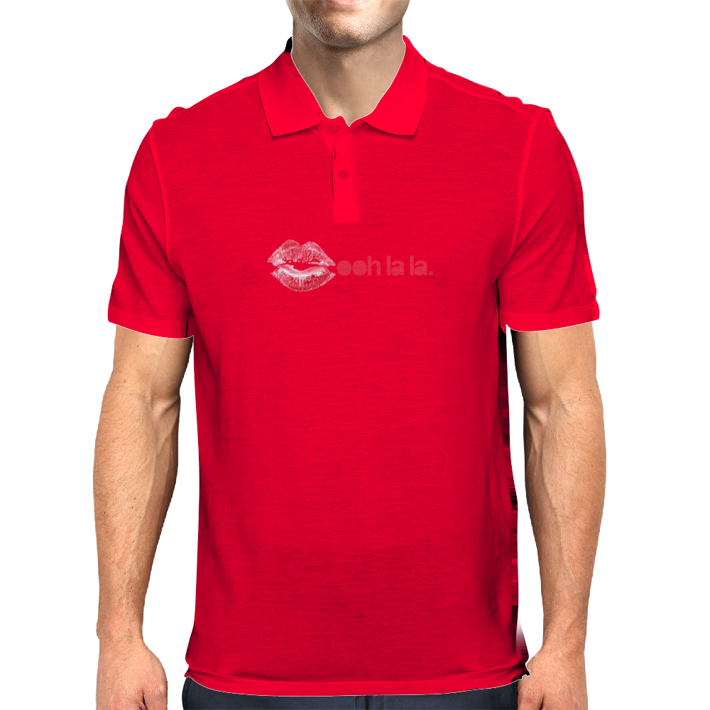 ooh la la (lips) Mens Polo