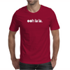 """Ooh La La"" White Logo Mens T-Shirt"