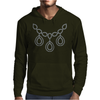 Open Diamond Necklace Mens Hoodie