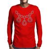 Open Diamond Necklace Mens Long Sleeve T-Shirt
