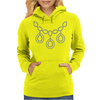 Open Diamond Necklace Womens Hoodie