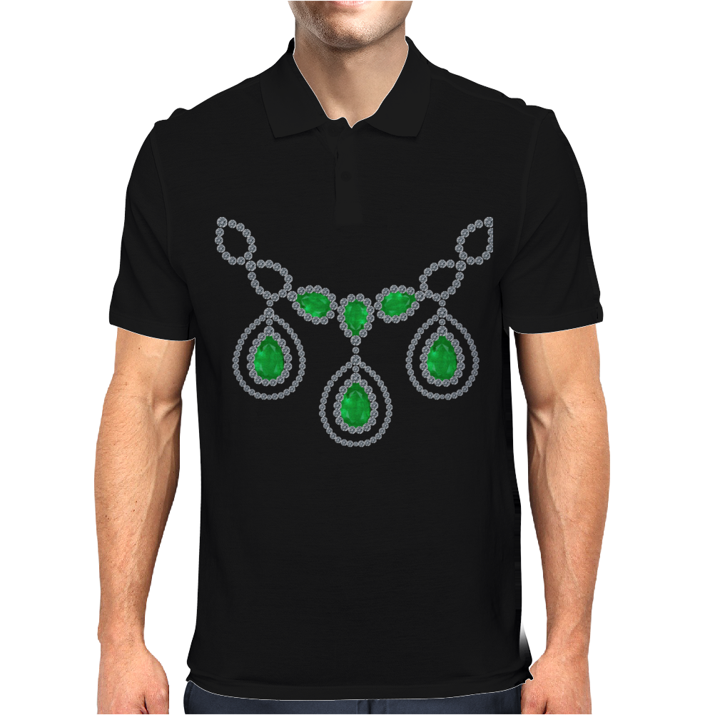 Open Emerald Necklace Mens Polo