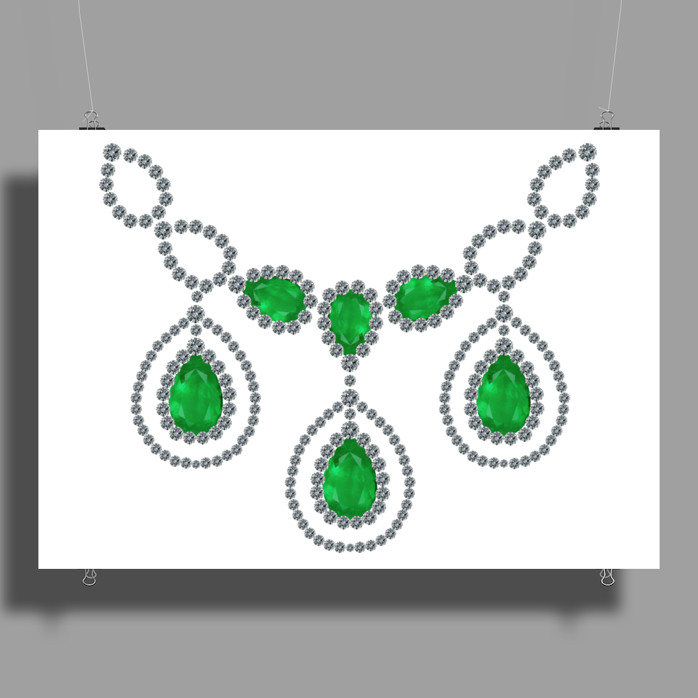 Open Emerald Necklace Poster Print (Landscape)