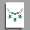 Open Emerald Necklace Poster Print (Portrait)