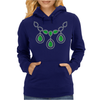 Open Emerald Necklace Womens Hoodie