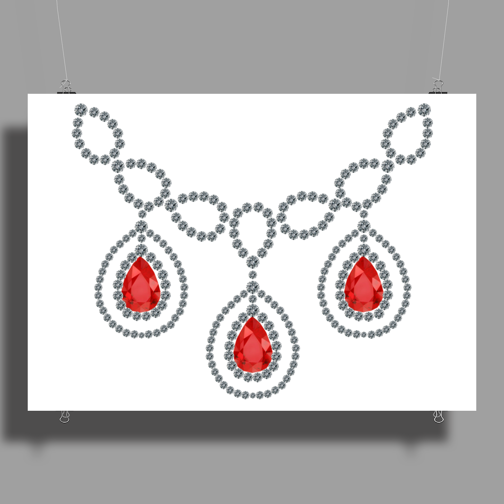 Open Ruby Necklace Poster Print (Landscape)