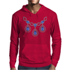 Open Sapphire Necklace Mens Hoodie