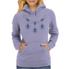 Open Sapphire Necklace Womens Hoodie