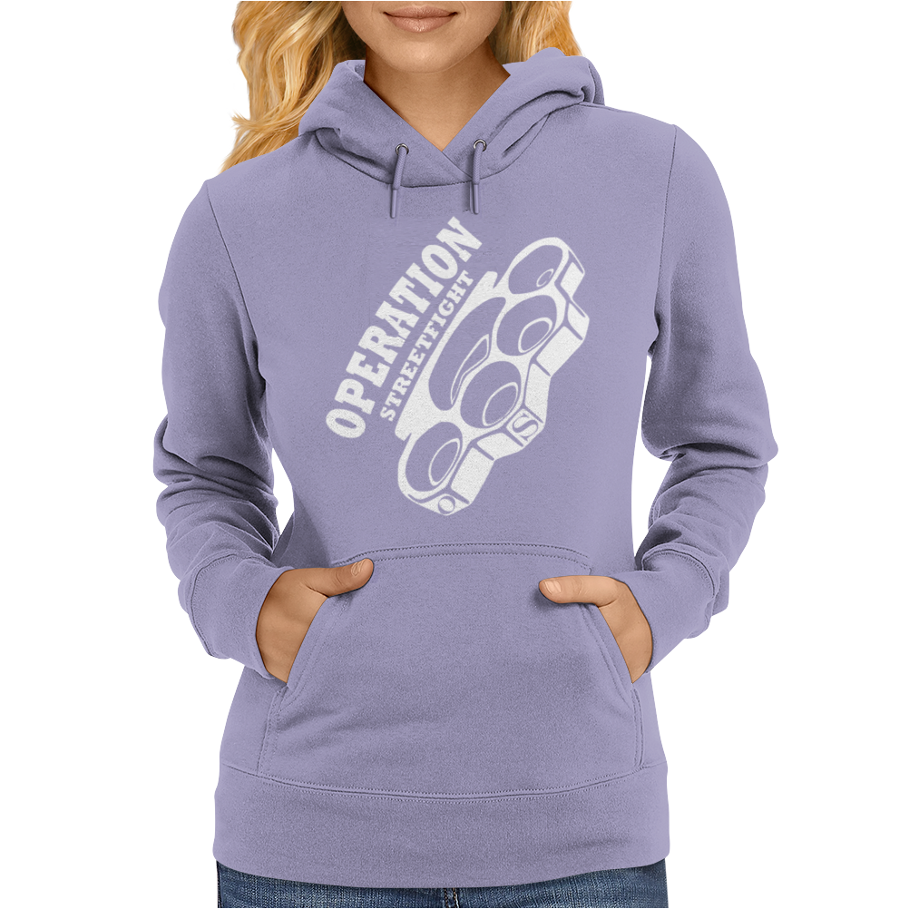 operation streetfight  Hools Hooligan Boxen Fight Womens Hoodie
