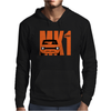 Orange Ford Escort MK1 Classic Car Mens Hoodie