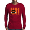Orange Ford Escort MK1 Classic Car Mens Long Sleeve T-Shirt
