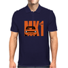 Orange Ford Escort MK1 Classic Car Mens Polo