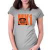 Orange Ford Escort MK1 Classic Car Womens Fitted T-Shirt