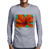 Orange Lily Mens Long Sleeve T-Shirt