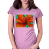 Orange Lily Womens Fitted T-Shirt