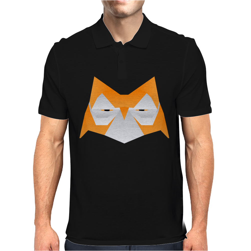Orange Origami Owl Head Mens Polo