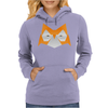 Orange Origami Owl Head Womens Hoodie