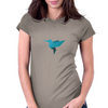 Origami bird style, Cute Blue bird Womens Fitted T-Shirt