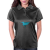 Origami bird style, Cute Blue bird Womens Polo