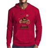 Ostrich on an Motorcycle Mens Hoodie