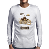 Ostrich on an Motorcycle Mens Long Sleeve T-Shirt