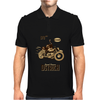 Ostrich on an Motorcycle Mens Polo