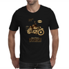 Ostrich on an Motorcycle Mens T-Shirt