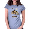 Ostrich on an Motorcycle Womens Fitted T-Shirt