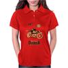 Ostrich on an Motorcycle Womens Polo