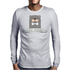 Otterly Adorable Funny Otter Mens Long Sleeve T-Shirt
