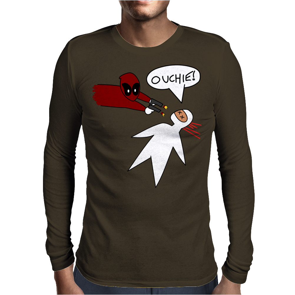 Ouchie! Mens Long Sleeve T-Shirt