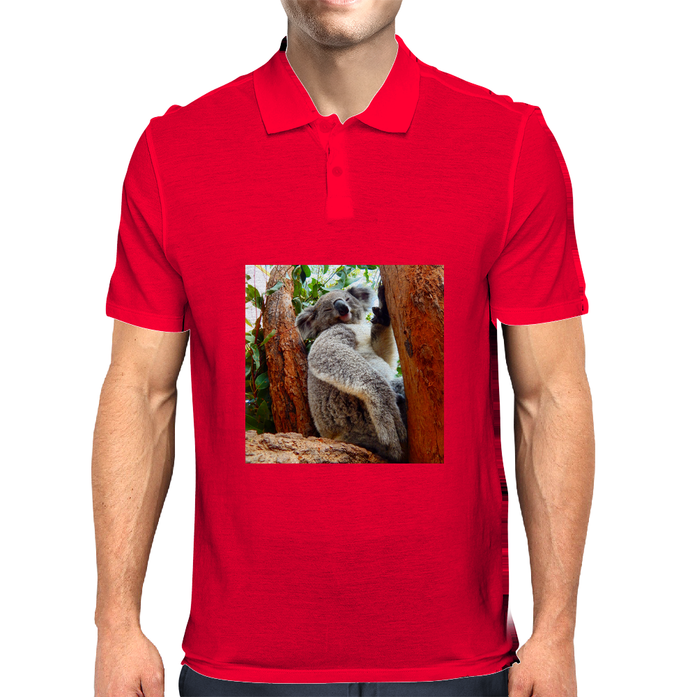 Outback Koala friend and family to the Drop Bear Mens Polo