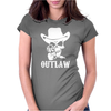Outlaw Cow-Boy Motor Bike Womens Fitted T-Shirt