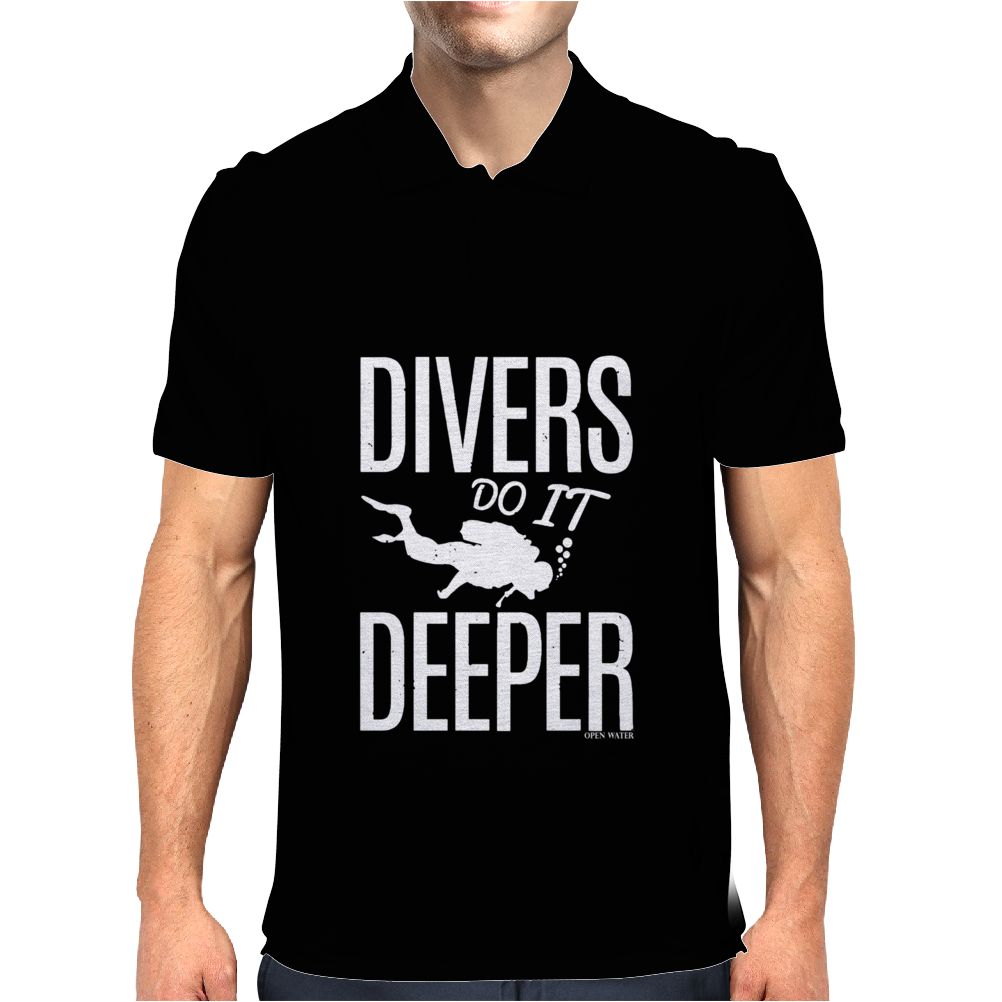 OW Divers Do It Deeper Mens Polo