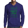 packaging label party & fun get drunk enjoy your life think green Mens Hoodie