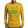 packaging label party & fun get drunk enjoy your life think green Mens Long Sleeve T-Shirt