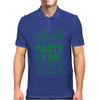 packaging label party & fun get drunk enjoy your life think green Mens Polo