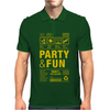 packaging label party & fun get drunk enjoy your life think green party hard Mens Polo
