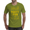 packaging label party & fun get drunk enjoy your life think green party hard Mens T-Shirt