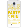 packaging label party & fun get drunk enjoy your life think green party hard Phone Case