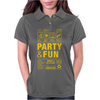 packaging label party & fun get drunk enjoy your life think green party hard Womens Polo