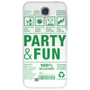 packaging label party & fun get drunk enjoy your life think green Phone Case