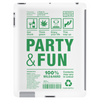packaging label party & fun get drunk enjoy your life think green Tablet