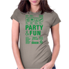 packaging label party & fun get drunk enjoy your life think green Womens Fitted T-Shirt