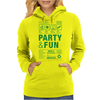 packaging label party & fun get drunk enjoy your life think green Womens Hoodie