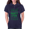 packaging label party & fun get drunk enjoy your life think green Womens Polo