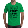 packaging label party & fun get drunk think green enjoy your life Mens T-Shirt