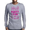 packaging label party & fun get drunk think green enjoy your life party hard Mens Long Sleeve T-Shirt