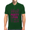packaging label party & fun get drunk think green enjoy your life party hard Mens Polo